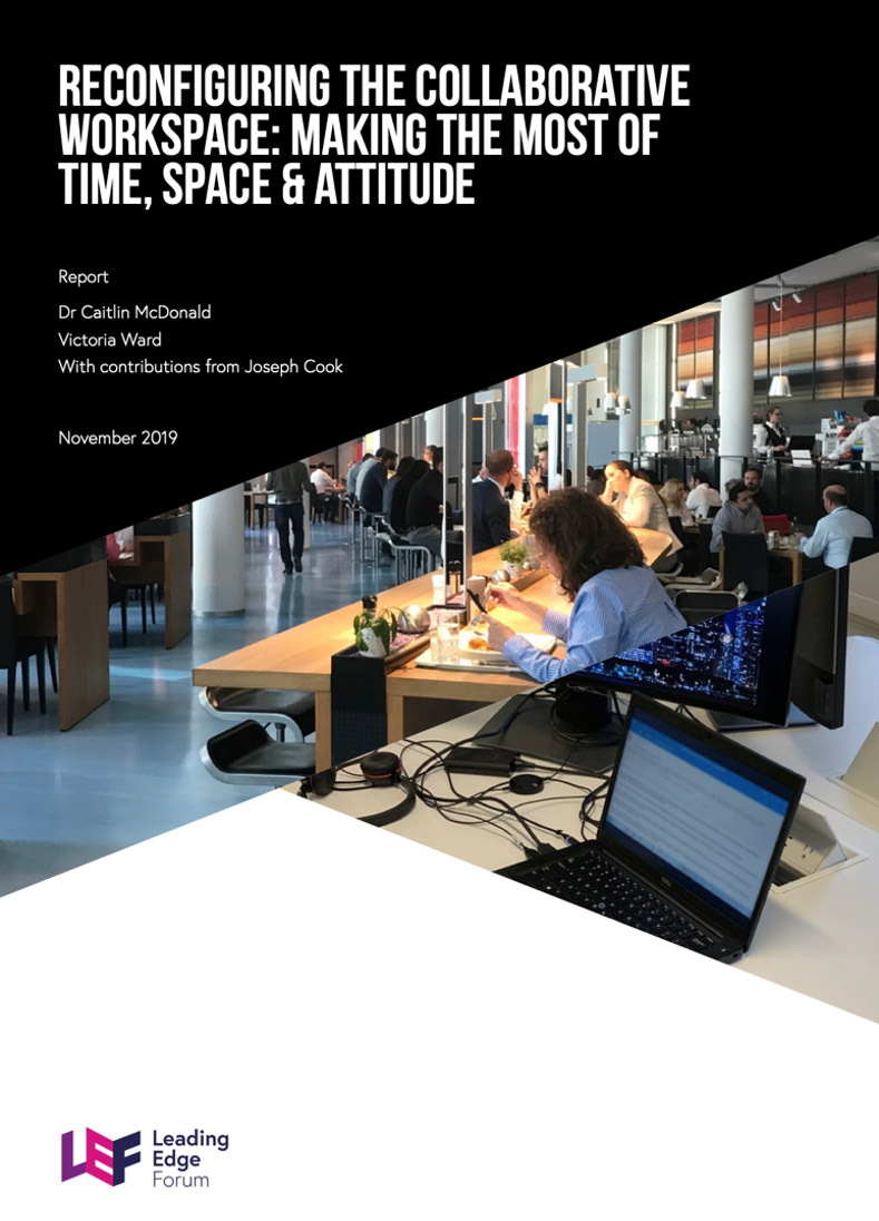 LEF Report Cover: Reconfiguring the Collaborative Workspace
